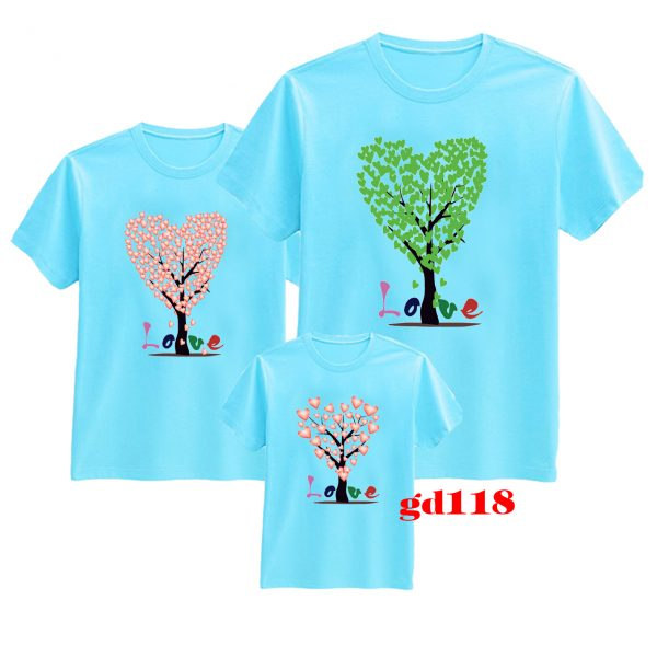 áo thun gia đình đẹp in Tree Family