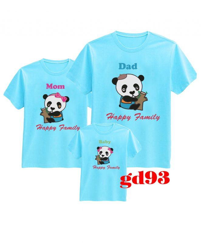 các kiểu áo thun gia đình
