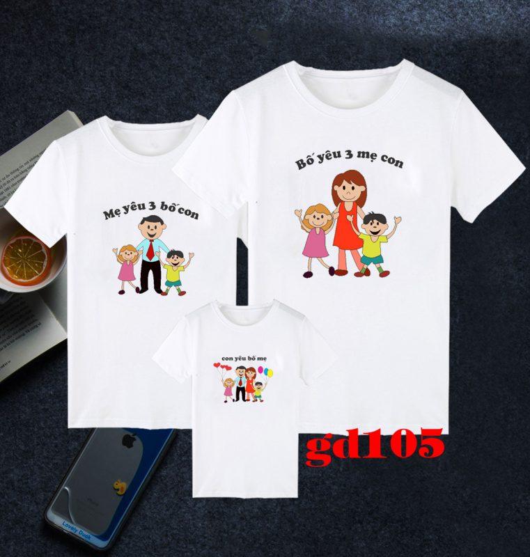 các mẫu áo thun gia đình
