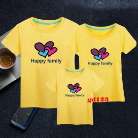 áo thun gia đình cổ trụ