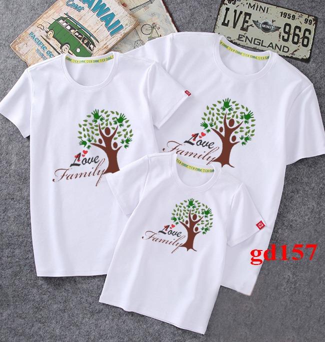 mẫu áo thun đồng phục gia đình