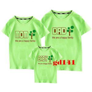 áo thun gia đình in cây xanh