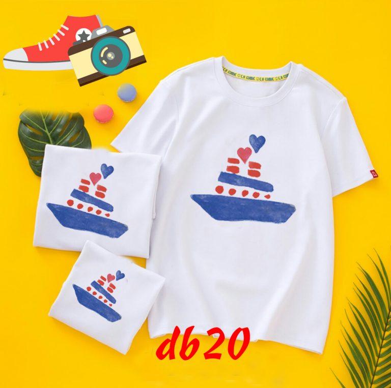 áo phông đồng phục gia đình đi biển
