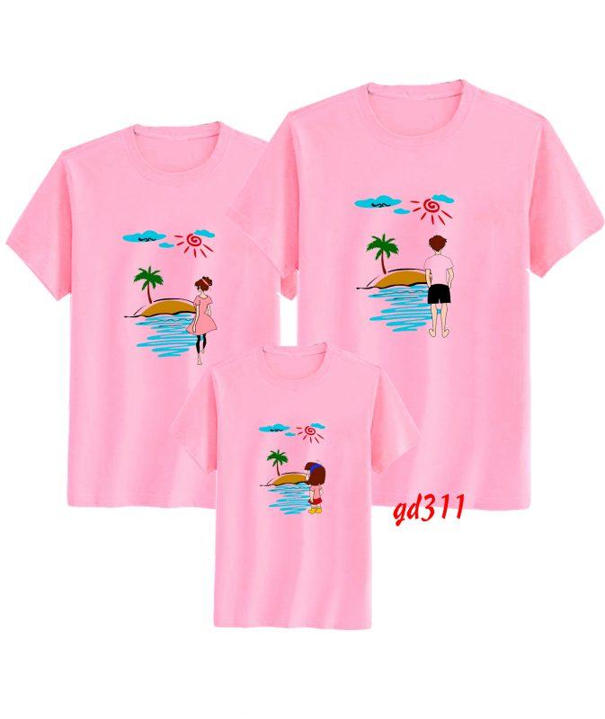 áo đi biển gia đình