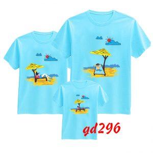 mua áo gia đình đi biển