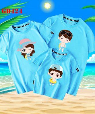 áo thun gia đình đi biển giá rẻ