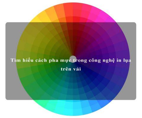 cách pha màu in lụa