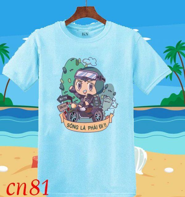áo thun nhóm đi biển