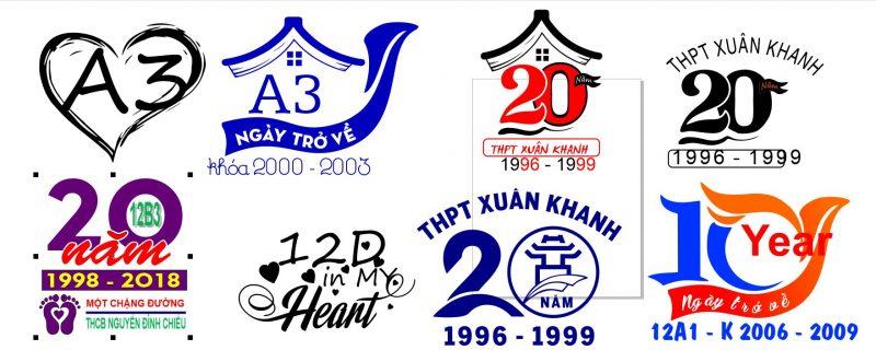 logo áo kỷ niệm 20 năm ra trường