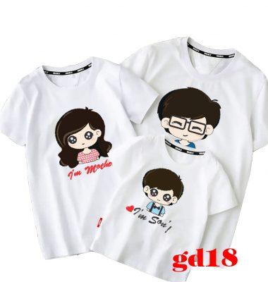 hình ảnh áo thun gia đình