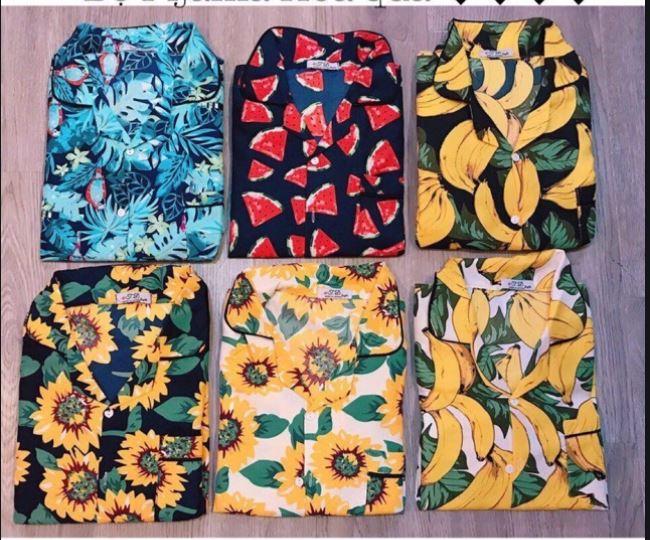 Quần áo hoa quả đi biển Đà Nẵng