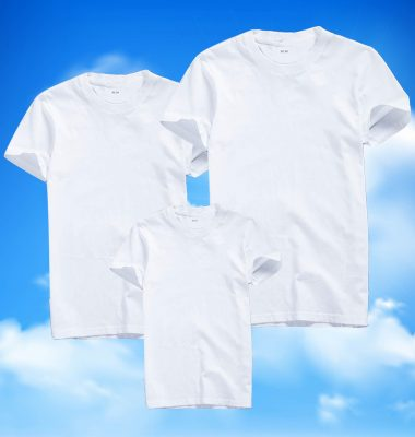áo thun trắng trơn gia đình