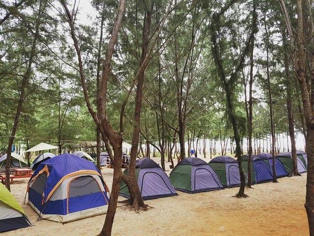 địa điểm đi chơi cắm trại