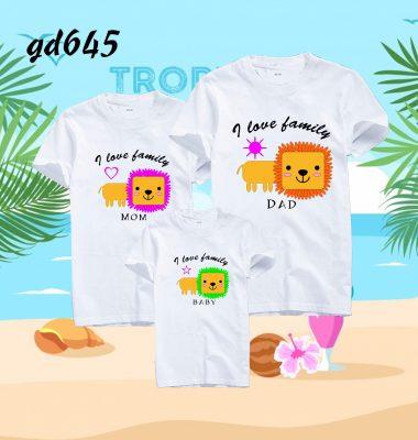 áo cặp cho gia đình 3 người