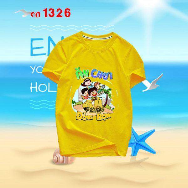 mẫu áo nhóm đi biển