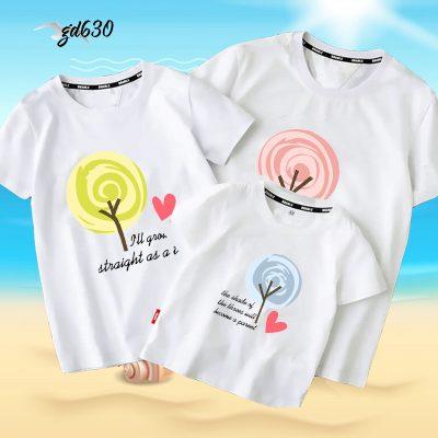 bộ áo gia đình mùa hè