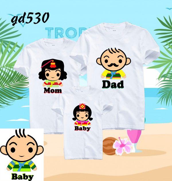 bộ đồ gia đình mùa hè